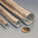 Aluminized Fiberglass Heat Reflecting Sleeve High Bulk