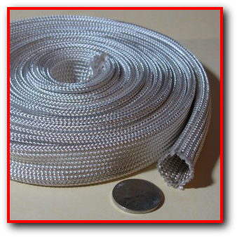 High Temperature Heat Resistant Heat Treated Fiberglass Sleeve Wire Cable Hose Protection