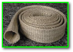 very high temperature heat and flame resistant vermiculite coated fiberglass sleeve
