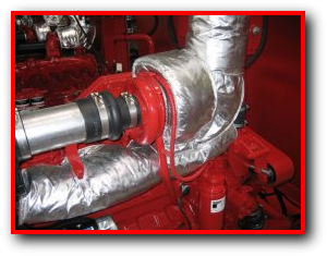 Engine And Generator Exhaust System Insulation Blankets