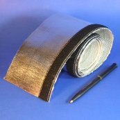 radiant heat reflective sleeve with velcro for wire and cable and hose protection
